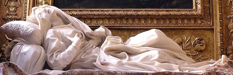Statua del Bernini dell'estasi della Beata Ludovica Alberoni