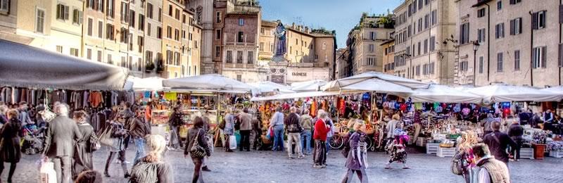 Il mercato di Campo dè Fiori